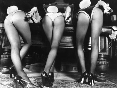 Playboy Bunnies Will Challenge Press Club Rabbits at the Press Club, February 1978 Stretched Canvas Print