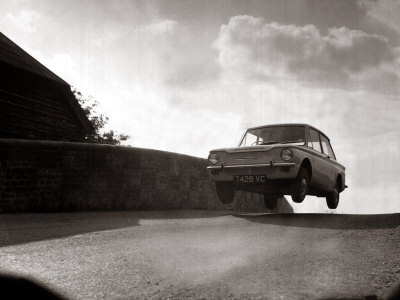 Hillman Imp 1965, Motor Car Stretched Canvas Print