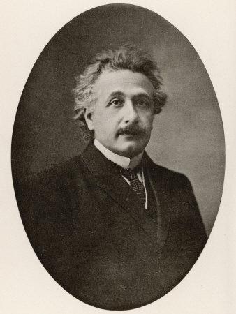 Albert Einstein in 1922 Stretched Canvas Print