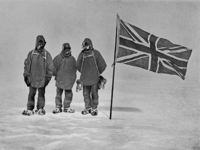 Ernest Shackleton's Expedition Reached Within 100 Miles of the South Pole Stretched Canvas Print