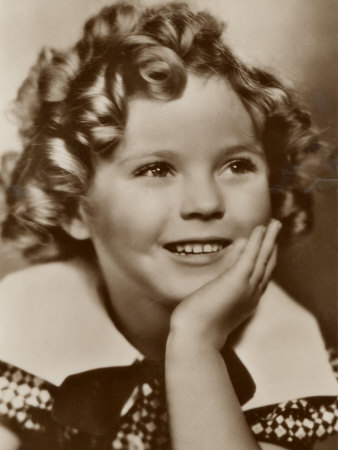 Shirley Temple American Child Star of the 1930s Stretched Canvas Print