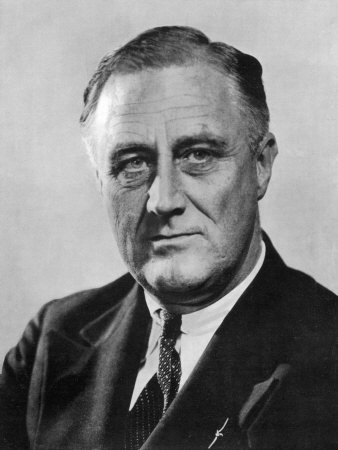 Franklin Delano Roosevelt 32nd President of the USA in the Year of His Election Stretched Canvas Print