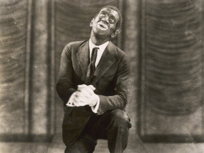 Al Jolson in the Jazz Singer Stretched Canvas Print