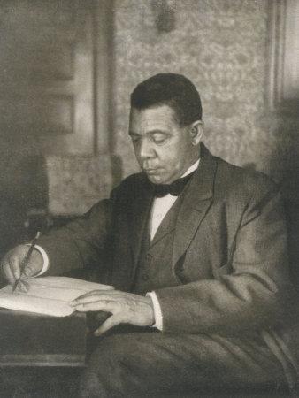 Booker T Washington American Educator Born a Slave Stretched Canvas Print