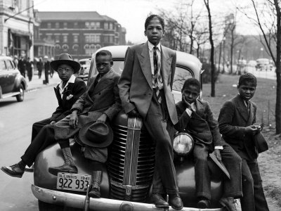 Southside Boys, Chicago, 1941 Stretched Canvas Print