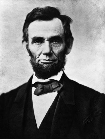 Abraham Lincoln, 1863 Stretched Canvas Print