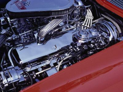 Corvette Engine Stretched Canvas Print