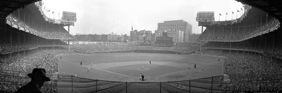 New York's Yankee Stadium as the Yankees Hosted the Brooklyn Dodgers Stretched Canvas Print
