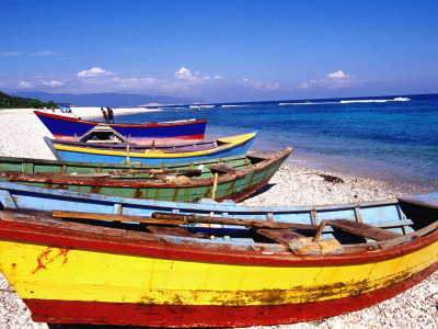 Baharona Fishing Village, Dominican Republic, Caribbean Stretched Canvas Print