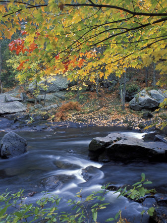 Packers Falls on the Lamprey River, New Hampshire, USA Stretched Canvas Print