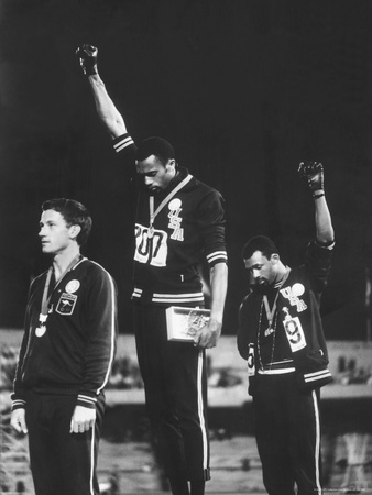 Black Power Salute, 1968 Mexico City Olympics Stretched Canvas Print