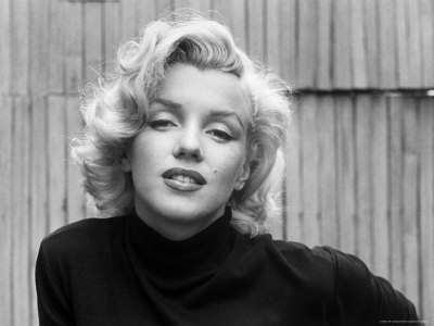 Actress Marilyn Monroe at Home Stretched Canvas Print
