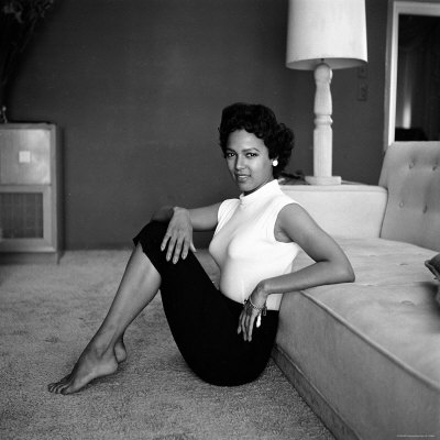 Casual Portrait of Actress Dorothy Dandridge at Home Stretched Canvas Print