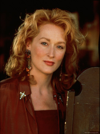 """Actress Meryl Streep at Film Premiere of Her """"Death Becomes Her"""" Stretched Canvas Print"""