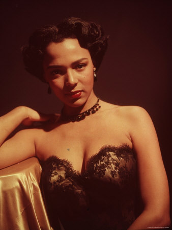 Portrait of Singer and Actress Dorothy Dandridge Stretched Canvas Print