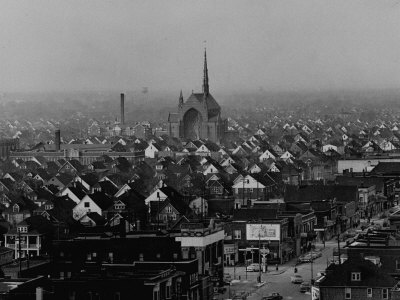 Hamtramck Section of Detroit Populated by Poles, Photo Essay Regarding Polish American Community Stretched Canvas Print