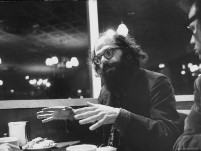 Poet Allen Ginsberg with Demonstrators During Democratic National Convention Stretched Canvas Print