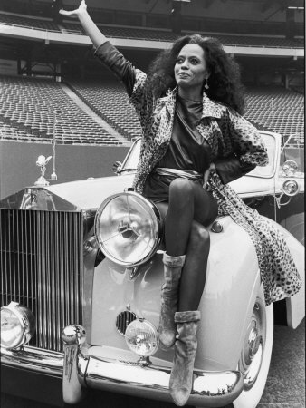 Singer Diana Ross Stretched Canvas Print
