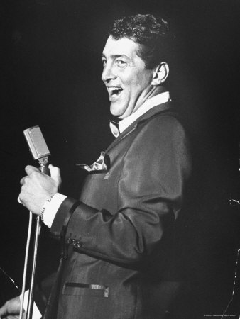 Singer Dean Martin Performing at the Sands Hotel Stretched Canvas Print