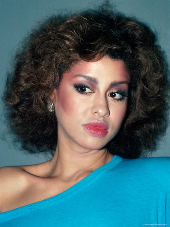 Singer Phyllis Hyman Stretched Canvas Print