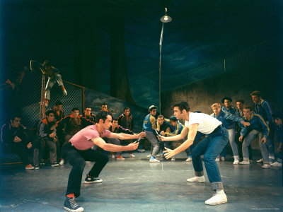 hank walker rumble scene between rival gangs in play west side story