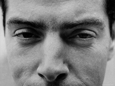 "Close Up of ""Yankee Clipper"" Joe DiMaggio's Eyes and Nose Stretched Canvas Print"