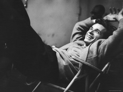 Brilliant Young Canadian Pianist Glenn Gould Laughing at a Columbia Recording Studio Stretched Canvas Print