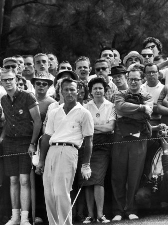 Arnold Palmer After Winning the Masters Tournament Stretched Canvas Print