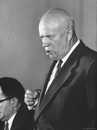 Soviet Prime Minister Nikita S. Khrushchev at Paris Summit ...