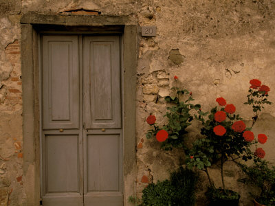 Tuscan Doorway, Castellina, Il Chianti, Tuscany, Italy Stretched Canvas Print