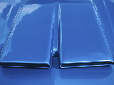 Close-up on Muscle Car Vent Stretched Canvas Print