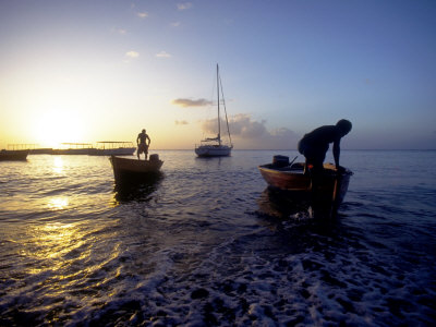 Water Taxis, Anse Chastenet, St. Lucia, Caribbean Photographic Print