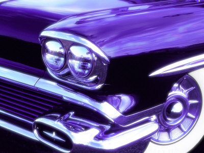 Classic 1958 Chevrolet Stretched Canvas Print