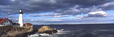 Portland Head Lighthouse, Maine, USA Stretched Canvas Print