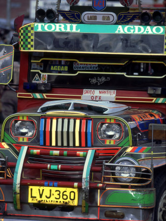 Jeepney, Philippines Stretched Canvas Print