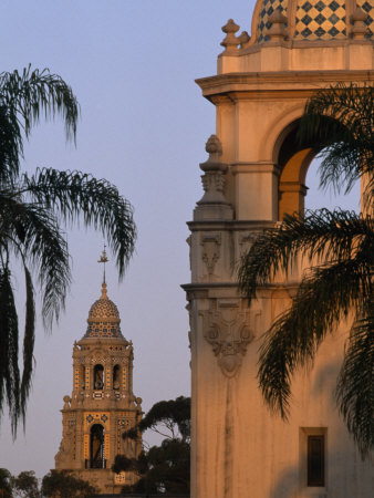 Casa del Prado Theatre in Balboa Park, San Diego, California Stretched Canvas Print