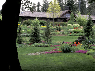 Ferris Perennial Garden, Spokane, Washington, USA Stretched Canvas Print