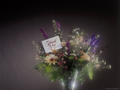 thank you images with flowers. Vase with Thank You Note