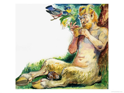 Pan, the Greek God of Nature Giclee Print by Philip Mendoza at Art.