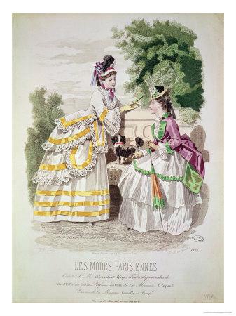 les modes parisiennes 1870