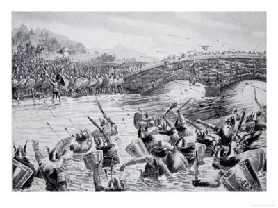 The Battle of Maldon, 991, Illustration from the Book The History ...