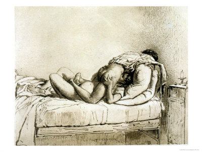 Couple Having Sex, Plate 27 from Liebe Giclee Print. zoom. view in room
