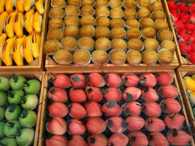Confectionary on Display, Bruges, West-Vlaanderen, Belgium, Stretched Canvas Print