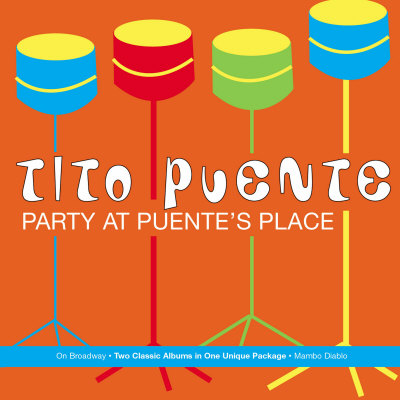 Tito Puente, Party at Puente's Place Stretched Canvas Print
