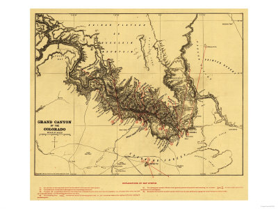 maps of colorado river. Grand Canyon of Colorado River