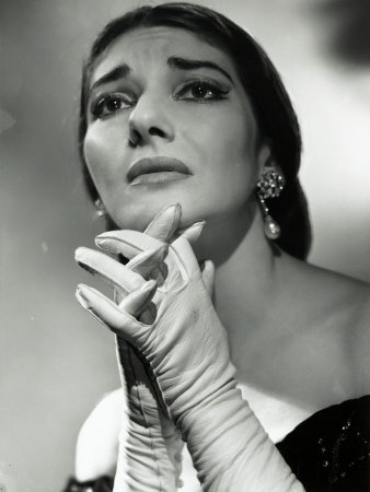 Maria Callas as Floria in Tosca, the Most Renowned Opera Singer of the 1950s Stretched Canvas Print