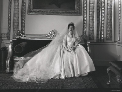 Portrait of the Late Princess Margaret on Her Wedding Day Stretched Canvas Print