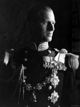 Prince Philip, Duke of Edinburgh, Earl of Merioneth and Baron Greenwich, Married to the Queen Stretched Canvas Print