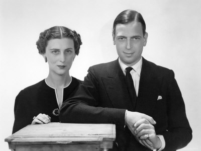 The Duke and Duchess of Kent, Prince George Married to Princess Marina Stretched Canvas Print
