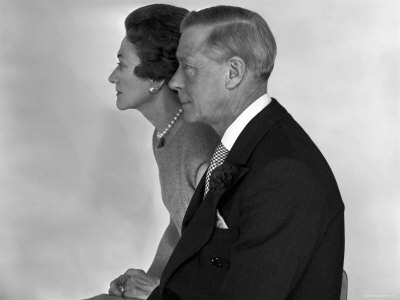 The Duke and the Duchess of Windsor, Prince Edward, Formerly King of the United Kingdom Stretched Canvas Print